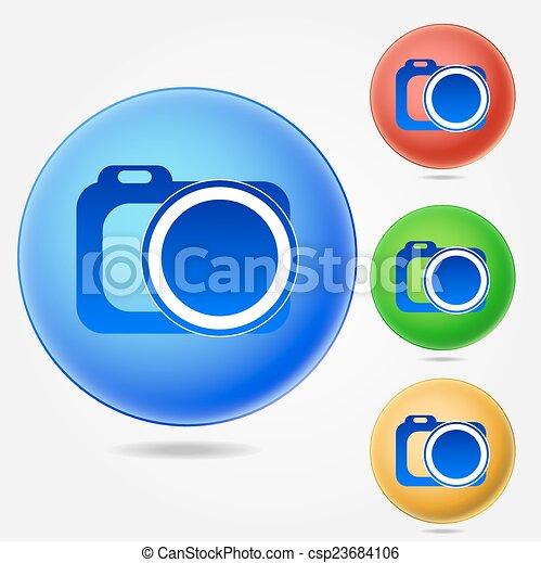 Photo camera icon - csp23684106