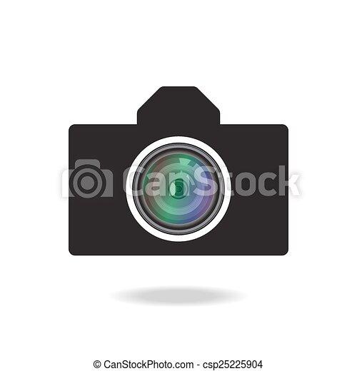 photo camera icon - csp25225904