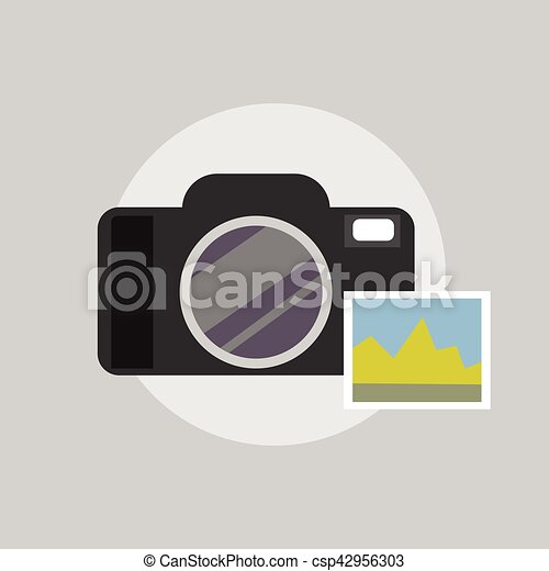 Photo camera icon. - csp42956303