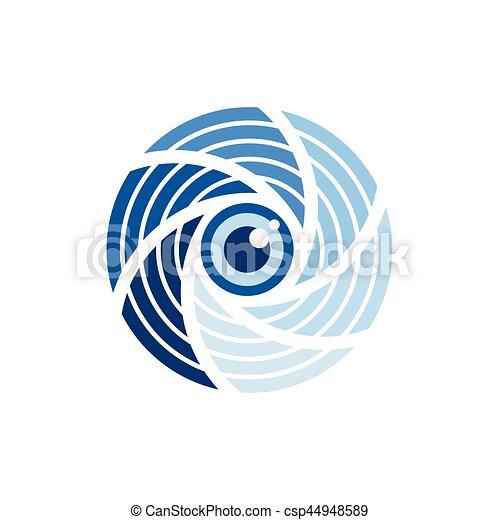 Photo Camera Shutter Eye Stylized - csp44948589