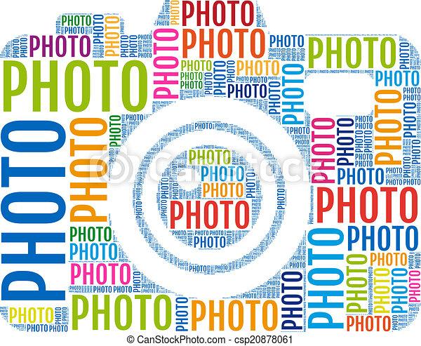 photo camera, vector - csp20878061