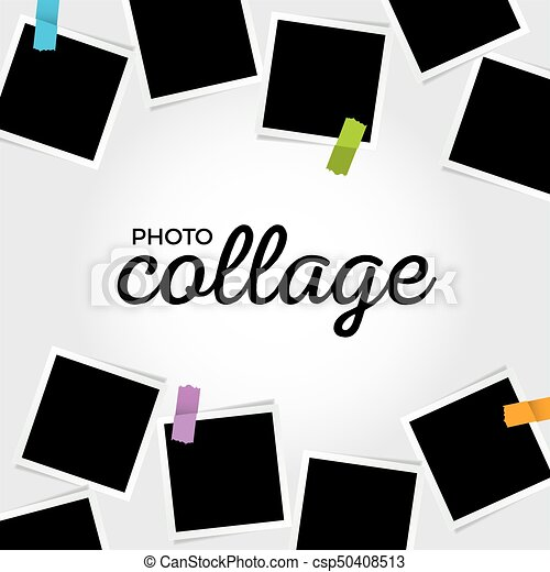 Photo Collage Template Vector Clip Art  Search Illustration
