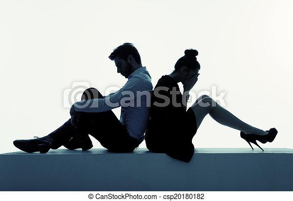 photo, couple, presenenting, désespéré - csp20180182