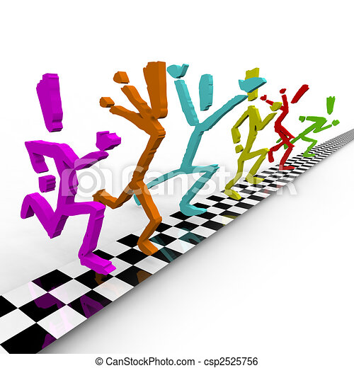 photo finish runners cross finish line together a team of rh canstockphoto com  free clipart runner crossing finish line