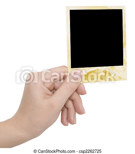 photo frame in a hand - csp2262725