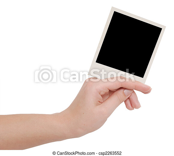 photo frame in a hand - csp2263552