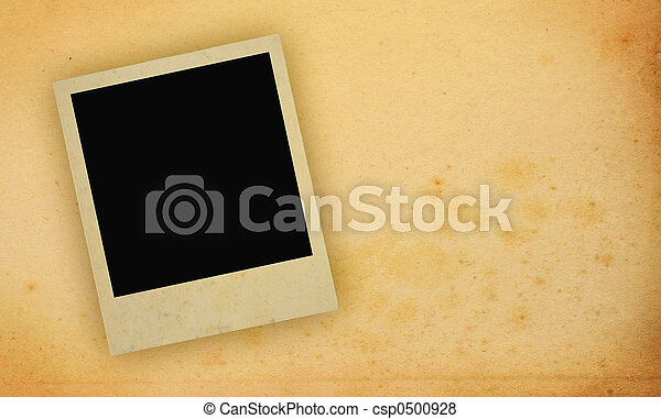 photo frame with yellowed copy space - csp0500928