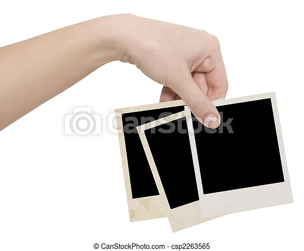 photo frames in a hand - csp2263565