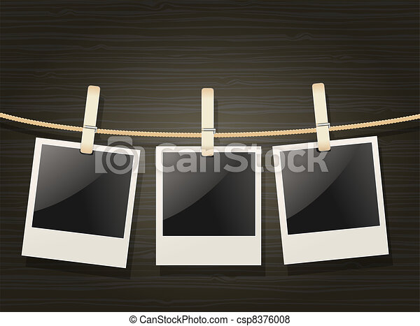 photo frames on rope - csp8376008