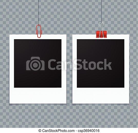Photo Frames. Vector - csp36940016