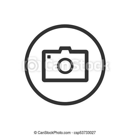 Photo icon on a white background - csp53733027