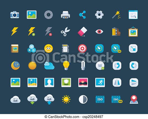 Photo icon set - csp20248497