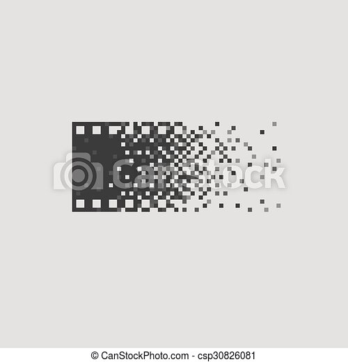 Photo logotype concept analogue digital versus film photography logo photographer cameraman. - csp30826081