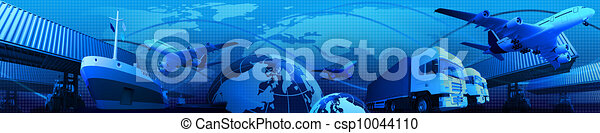 Photo montage of freight/transport - csp10044110