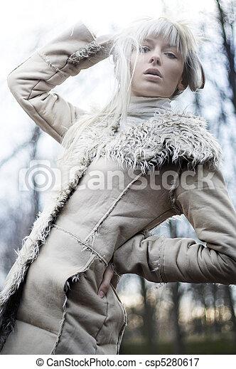 photo of a beautiful blonde - csp5280617