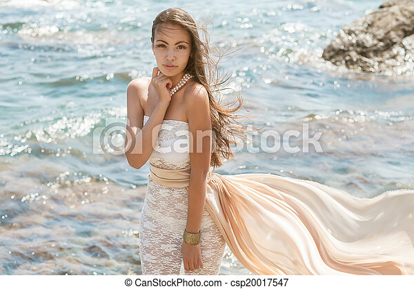 Photo of a beautiful young woman  - csp20017547