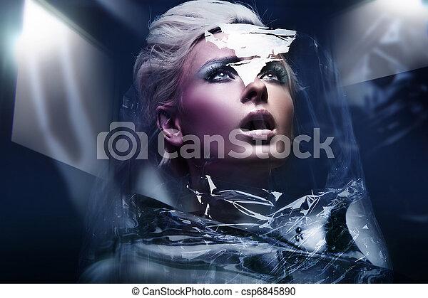 Photo of a future woman - csp6845890