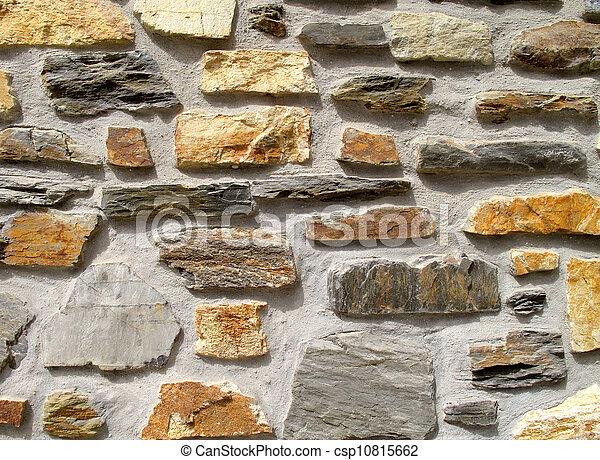 Photo of a plain stone wall - csp10815662