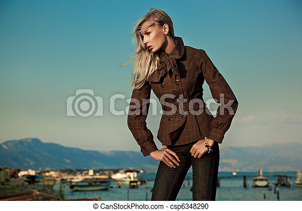 Photo of a stylish woman - csp6348290