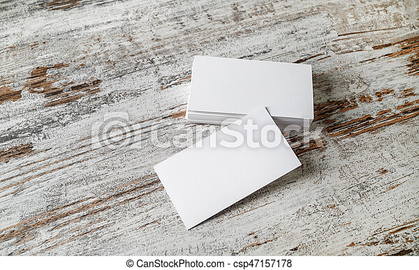 Photo of blank business cards on old wooden table background photo of blank business cards on old wooden table background presentation template for designers reheart Gallery
