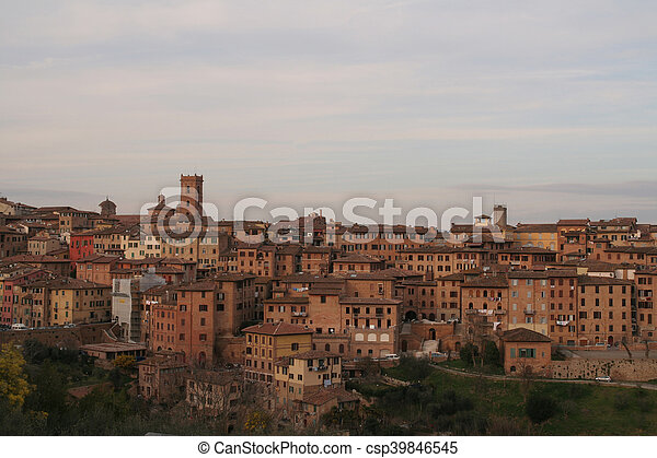 Photo of Siena in Italy in Tuscany - csp39846545