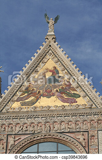 Photo of Siena in Italy in Tuscany - csp39843696
