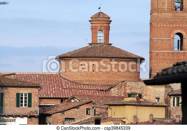 Photo of Siena in Italy in Tuscany - csp39845339