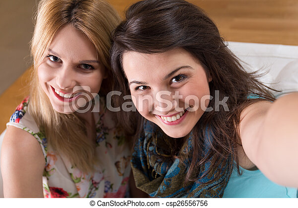 Photo of two friends - csp26556756