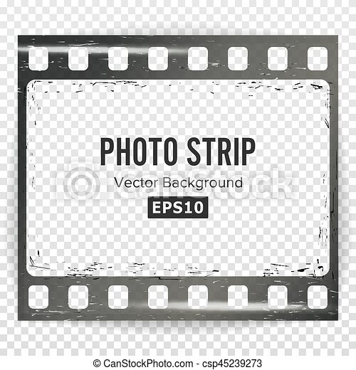 Photo strip vector. realistic empty frame strip blank. grunge ...
