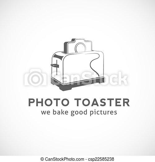 Photo Toaster Abstract Vector Logo Template - csp22585238