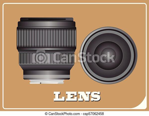 photo, vecteur, lentille appareil-photo, illustration - csp57062458