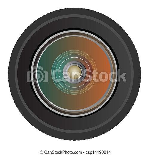 photo, vecteur, lentille appareil-photo - csp14190214