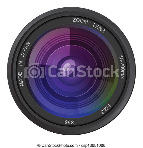 photo, vecteur, lentille appareil-photo - csp18851088