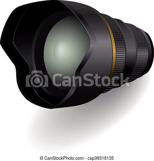 photo, vecteur, lentille appareil-photo, illustration. - csp39318135