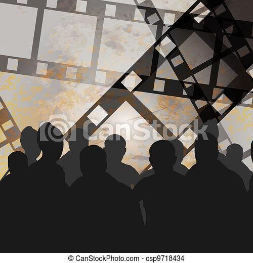 photo, vidéo, grunge, ou, pellicule - csp9718434