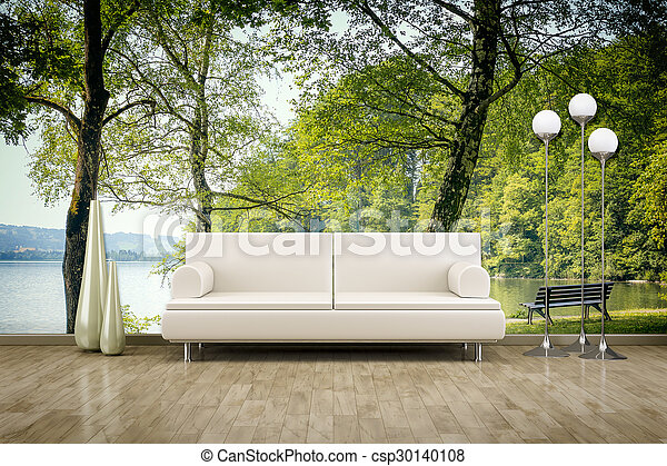 photo wall mural sofa floor - csp30140108