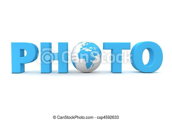 Photo World Blue - csp4592633