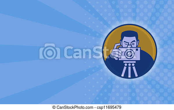 photographe, appareil photo, retro - csp11695479