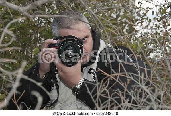 photographe, hidden. - csp7842348