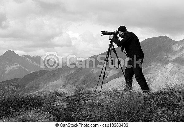 photographe, voyage, emplacement - csp18380433
