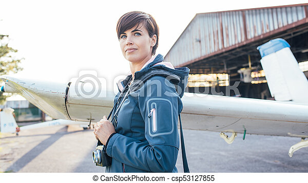 Photographer at the aerodrome - csp53127855