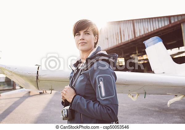 Photographer at the aerodrome - csp50053546