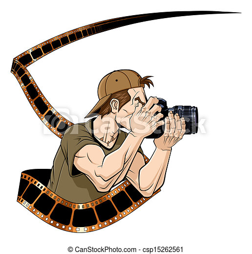 photographer at work abstract illustration of photographer clip rh canstockphoto com photograph clipart photography clipart images