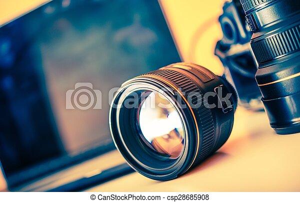 Photographer Desk Lenses - csp28685908