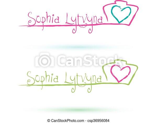 Photographer Logo With Heart Wedding Photographer Logo Design
