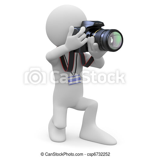 Photographer with his SLR camera - csp6732252