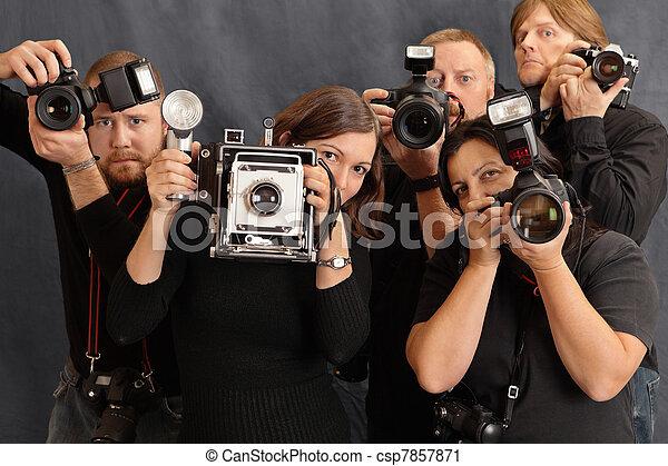 Photographers - csp7857871