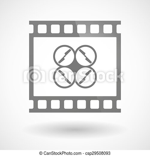Photographic film icon with a drone - csp29508093
