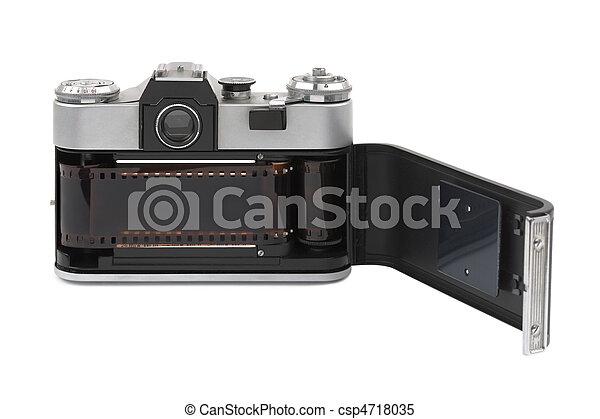 Photographic film in retro camera - csp4718035