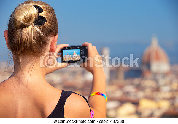 Photographing beautiful view - csp21437388